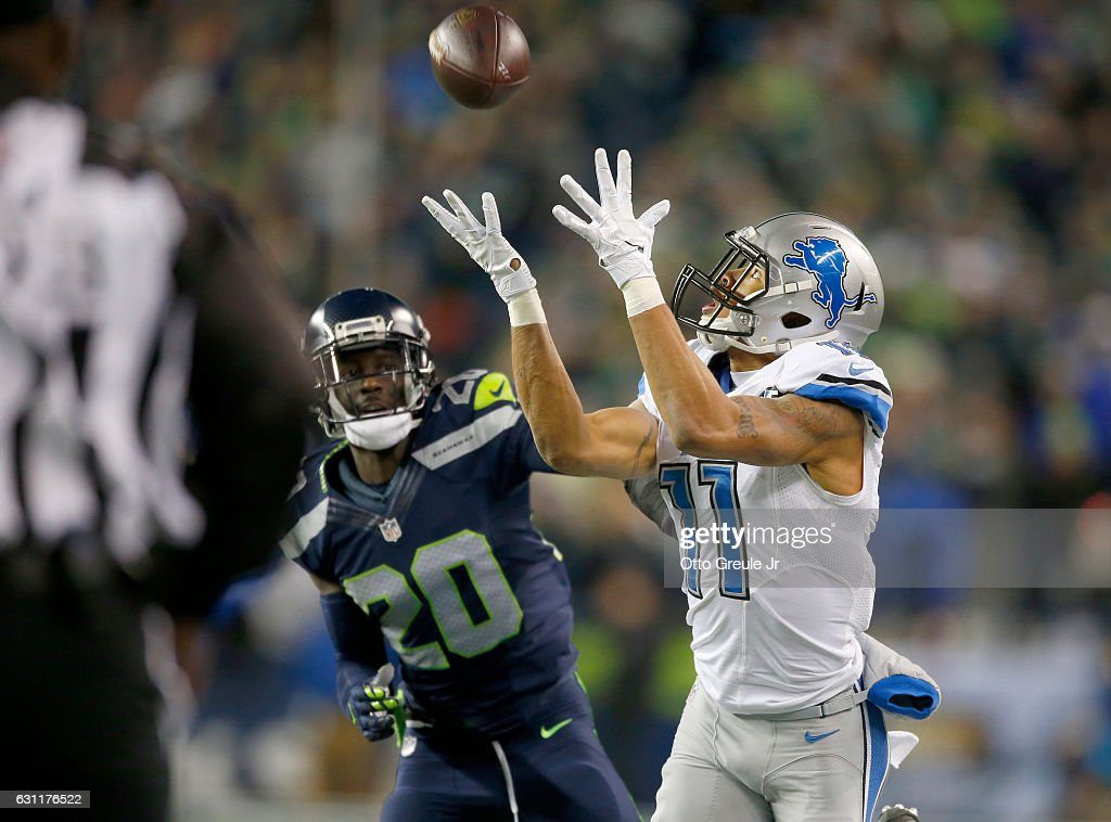 Wild Card Round - Detroit Lions v Seattle Seahawks : News Photo