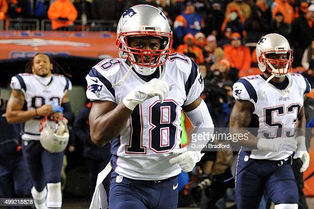 Wide receiver Matthew Slater of the New England Patriots linebacker Darius Fleming of the New England Patriots and outside linebacker Geneo Grissom...