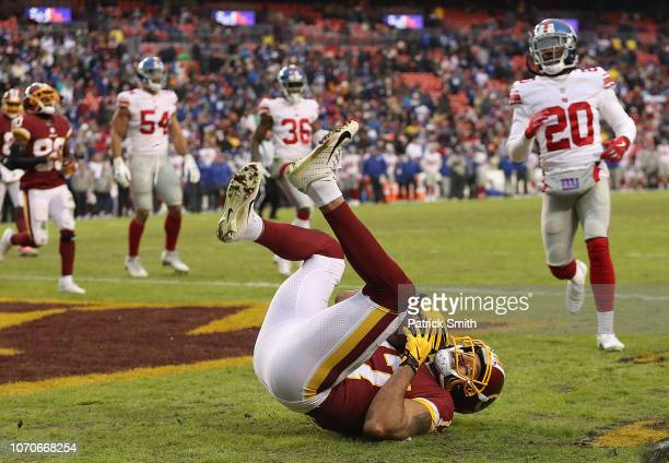 Wide receiver Michael Floyd of the Washington Redskins catches a a 2point conversion in the fourth quarter against the New York Giants at FedExField...