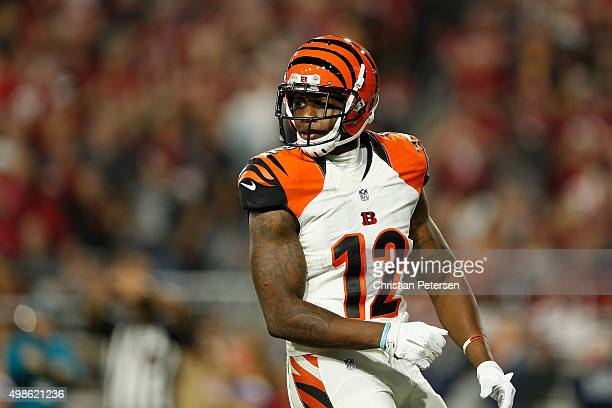 Wide receiver Mohamed Sanu of the Cincinnati Bengals during the NFL game against the Arizona Cardinals at the University of Phoenix Stadium on...