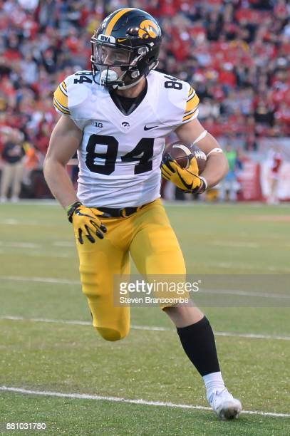 Wide receiver Nick Easley of the Iowa Hawkeyes runs against the Nebraska Cornhuskers at Memorial Stadium on November 24 2017 in Lincoln Nebraska