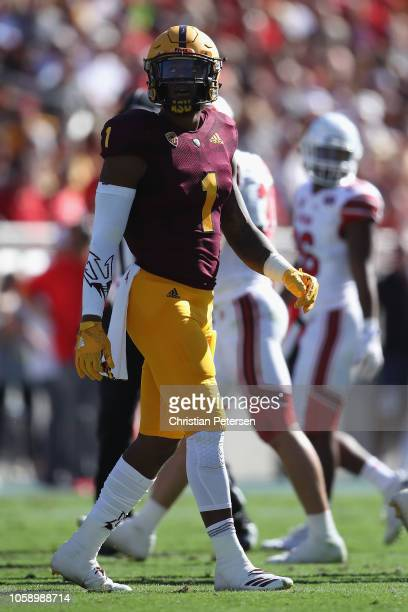 Wide receiver N'Keal Harry of the Arizona State Sun Devils during the first half of the college football game against the Utah Utes at Sun Devil...