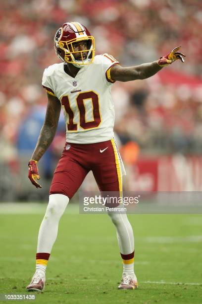 Wide receiver Paul Richardson of the Washington Redskins during the NFL game against the Arizona Cardinals at State Farm Stadium on September 9 2018...