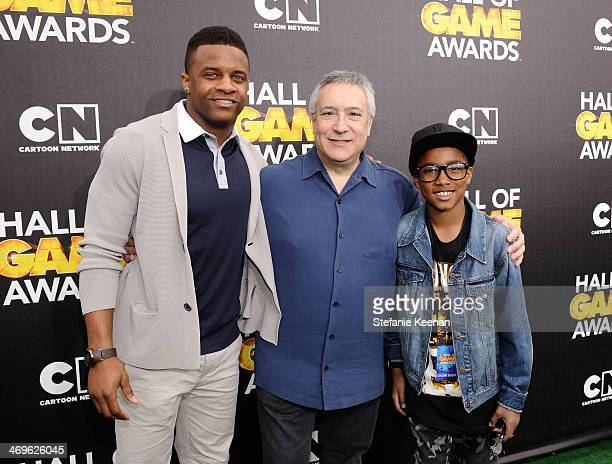 Wide receiver Randall Cobb of the Green Bay Packers, Cartoon Network President/COO Stuart Snyder, and guest attend Cartoon Network's fourth annual...