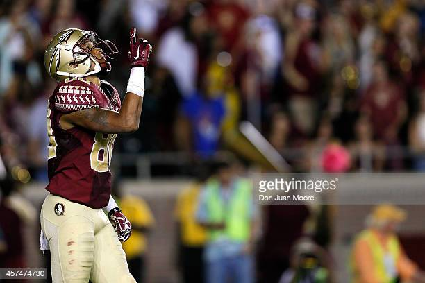 Wide Receiver Rashad Greene of the Florida State Seminoles during the game against the Notre Dame Fighting Irish at Doak Campbell Stadium on Bobby...