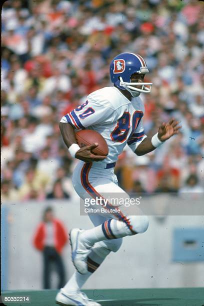 Wide receiver Rick Upchurch of the Denver Broncos returns a kick against the Buffal Bills at Rich Stadium on October 5 1975 in Orchard Park New York...