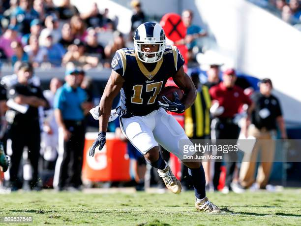 Wide Receiver Robert Woods of the Los Angeles Rams during the game against the Jacksonville Jaguars at EverBank Field on October 15 2017 in...