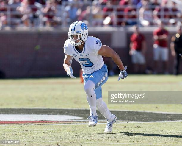 Wide Receiver Ryan Switzer of the North Carolina Tar Heels during the game against the Florida State Seminoles at Doak Campbell Stadium on Bobby...