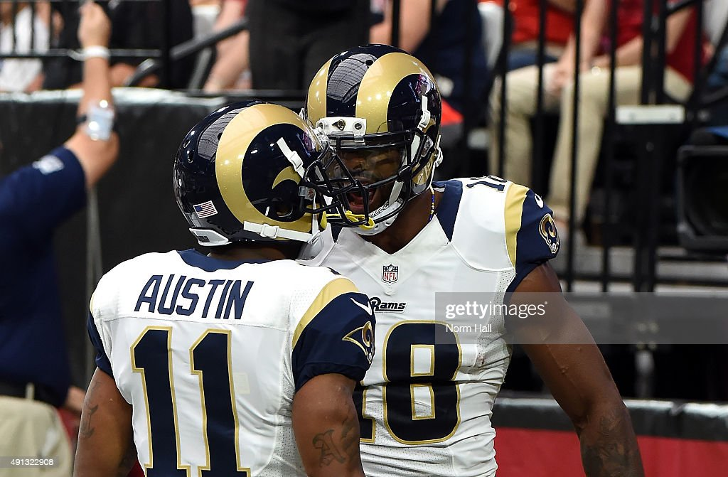 Wide Receiver Tavon Austin Of The St Louis Rams Celebrates His First