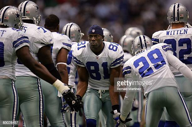 ec38b7eb149 Wide receiver Terrell Owens of the Dallas Cowboys before a game against the  Philadelphia Eagles at