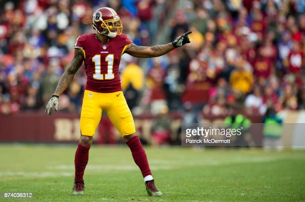 Wide receiver Terrelle Pryor of the Washington Redskins in action in the third quarter against the Minnesota Vikings at FedExField on November 12...