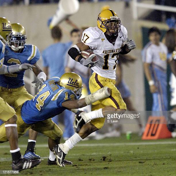 ASU wide receiver Terry Richardson during the Arizona State vs UCLA game at the Rose Bowl in Pasadena CA on Nov 12 2005 UCLA won their last home game...