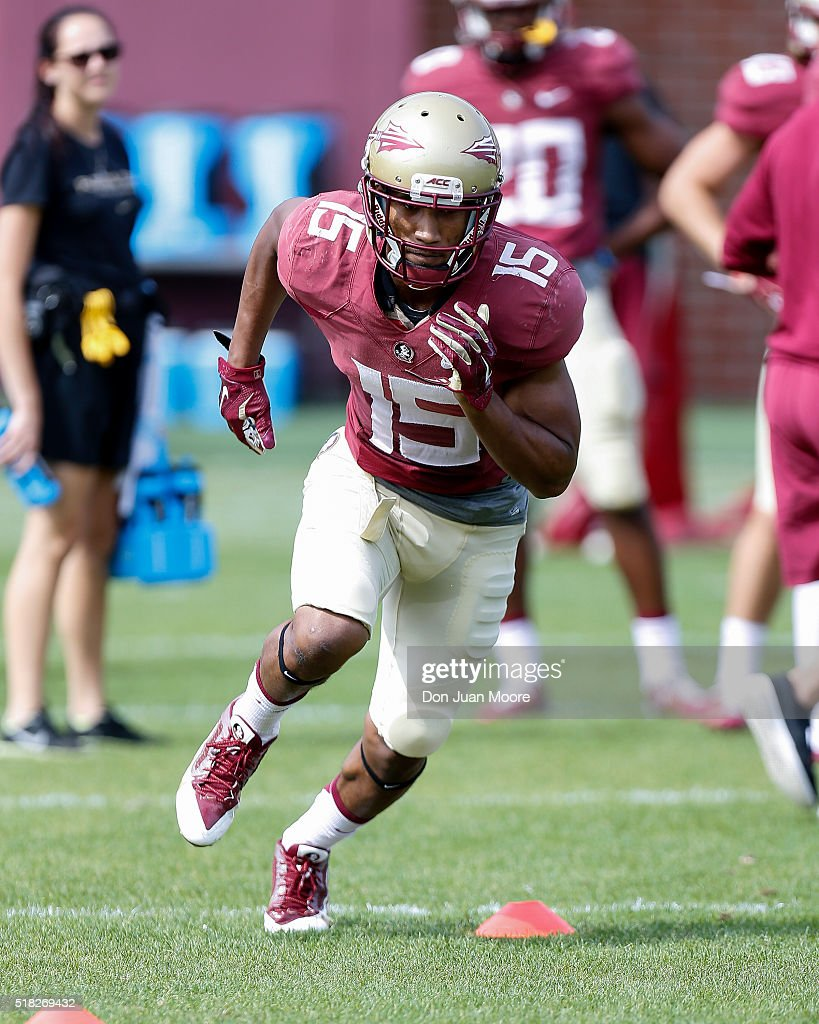 Florida state spring football practice pictures getty images wide receiver travis rudolph 15 of the florida state seminoles during spring football practice at voltagebd Choice Image