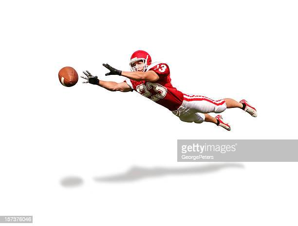 wide receiver with clipping path - wide receiver athlete stock pictures, royalty-free photos & images