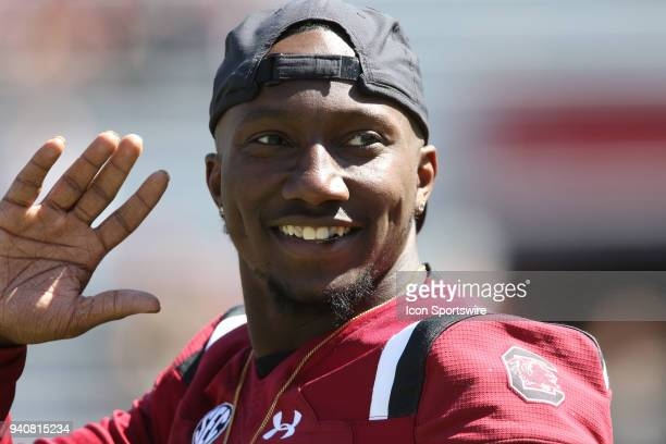 Wide reciever Deebo Samuel on the sidelines during the University of South Carolina Garnett and Black inner squad football game at WilliamsBrice...
