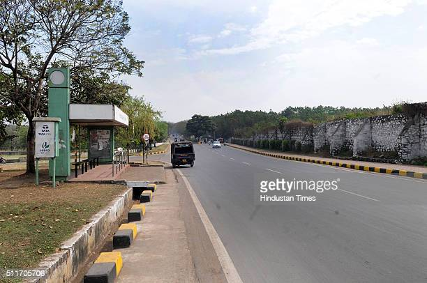 Wide Roads Along With Greenery Covered Area In JUSCO Township On February 12 2015 Jamshedpur
