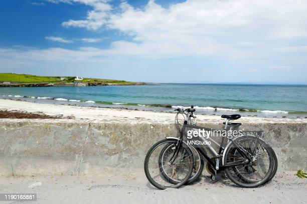 two bikes near sandy beach inishmore