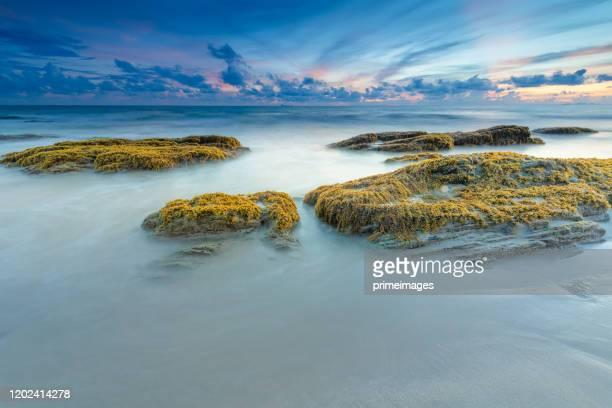 南タイアジアの広いショット美しい風景日没熱帯ビーチ海 - 南東 ストックフォトと画像