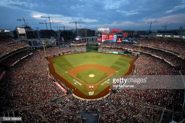 A wide shot during the 89th MLB AllStar Game presented by Mastercard at Nationals Park on July 17 2018 in Washington DC