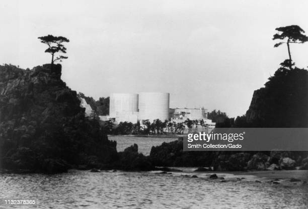 Wide shot of Mihama Nuclear Power Plant, Unit 1, operated by Kansai Electric Power Company Mihama, Japan, 1971. Image courtesy US Department of...