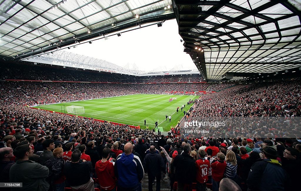 A wide shot of the interior of Old Trafford ahead of the Barclays FA Premier League match between Manchester United and Middlesbrough at Old Trafford on October 27 2007, in Manchester, England.