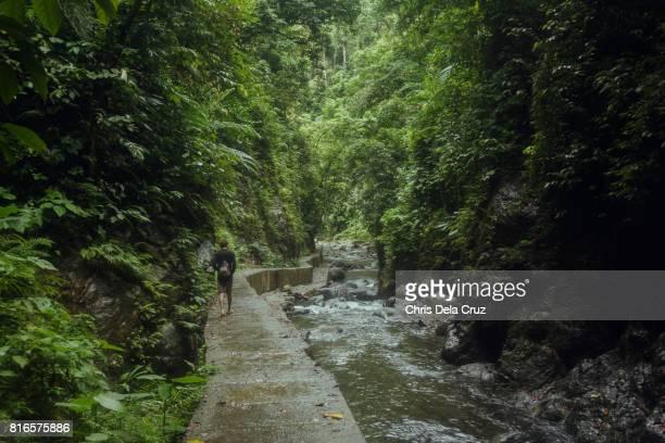 Wide shot of the path along Ditumabo falls