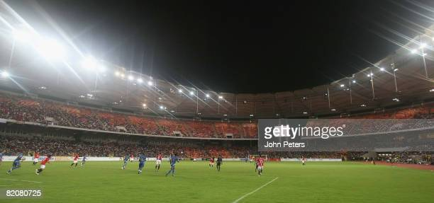 A wide shot of the stadium during the preseason friendly match between Manchester United and Portsmouth during their preseason tour to South Africa...