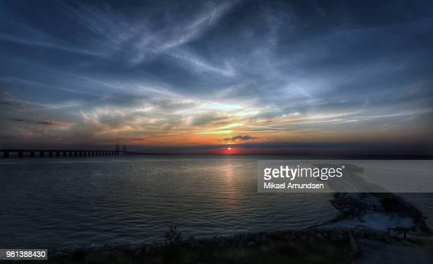 Wide sunset over oresund