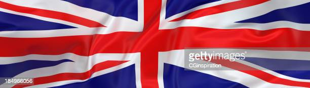 wide uk flag banner - union jack stock pictures, royalty-free photos & images