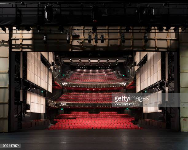 Wide view of auditorium from stage through proscenium arch Sadler's Wells Theatre Auditorium London United Kingdom Architect RHWL Architects 1998
