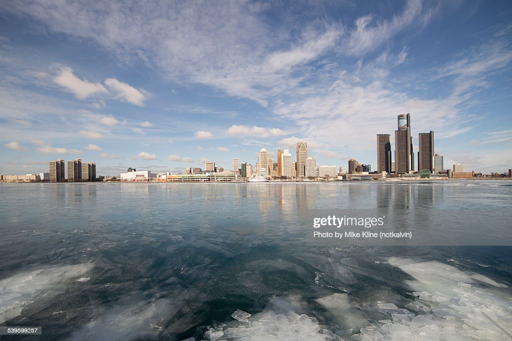 Wide view of Detroit : Stock Photo