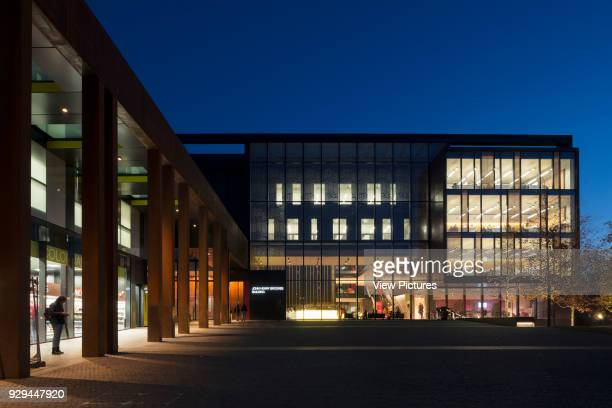 Wide view of Entrance Piazza John Henry Brookes Building Oxford Brookes University Oxford United Kingdom Architect Design Engine Architects Ltd with...