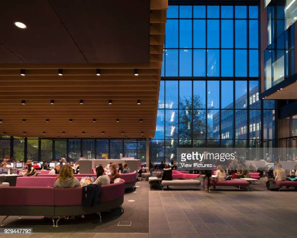 Wide view of Forum John Henry Brookes Building Oxford Brookes University Oxford United Kingdom Architect Design Engine Architects Ltd with...