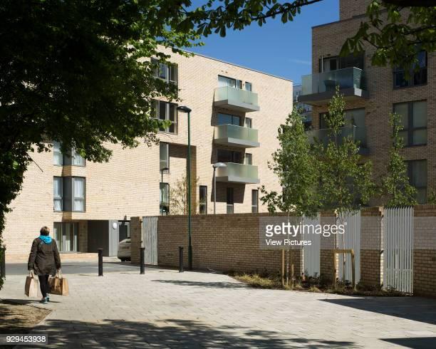 Wide view of rear of housing scheme Hicks Bolton Bond Housing Scheme London United Kingdom Architect Rick Mather Architects 2015