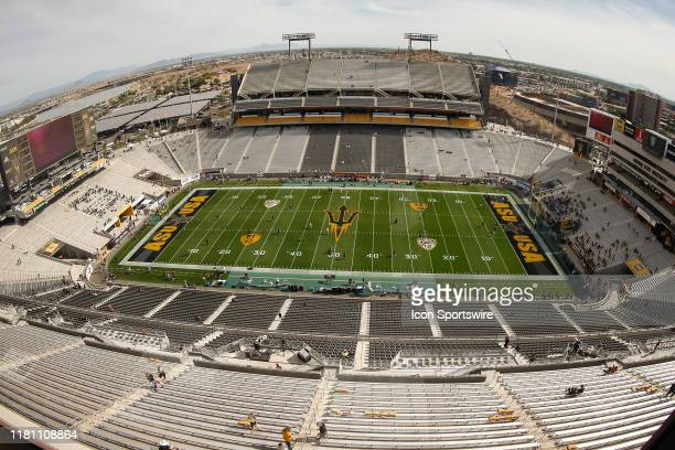Wide view of Sun Devil Stadium before the college football game between the USC Trojans and the Arizona State Sun Devils on November 9, 2019 at Sun...