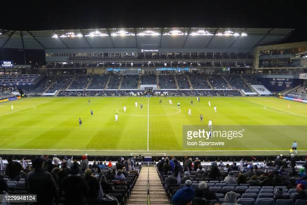 Wide view of the field at the start of the MLS Western Conference Semifinal between Minnesota United FC and Sporting KC on December 3, 2020 at...