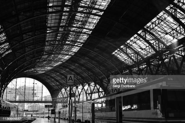 Wide view of the railway station Barcelona-Estación de Francia