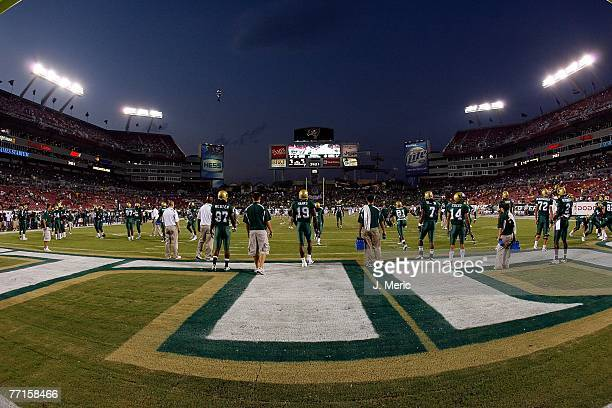 A wide view of the stadium prior to the game with the South Florida Bulls against the West Virginia Mountaineers on September 28 2007 at Raymond...