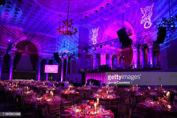 A wide view of the venue before guests arrive at the Angel Ball 2019 hosted by Gabrielle's Angel Foundation at Cipriani Wall Street on October 28...