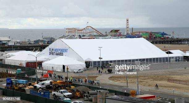 A wide view of the venue during the 2018 Film Independent Spirit Awards on March 3 2018 in Santa Monica California