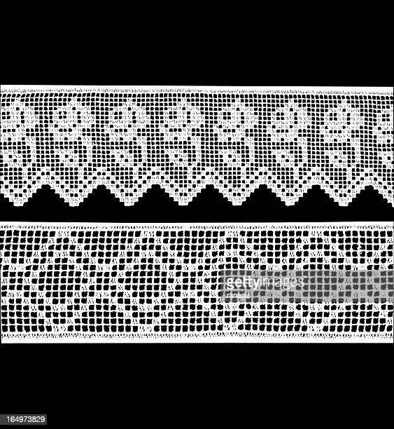 wide white lace - doily bildbanksfoton och bilder
