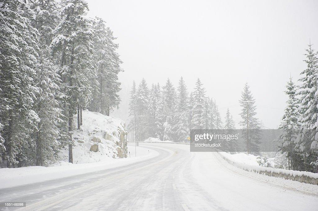 Highway Blizzard : Foto de stock