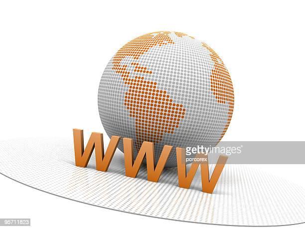 Weite Welt mit der Erde Globus
