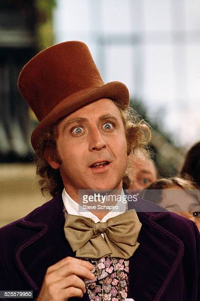 A wideeyed Gene Wilder as the title character in 'Willy Wonka the Chocolate Factory'