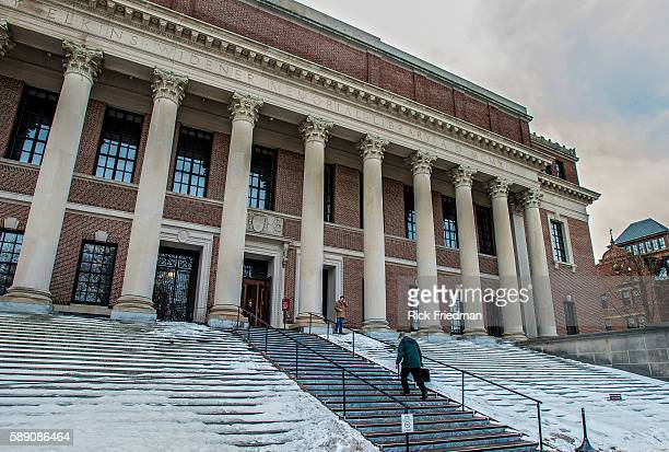 Widener Library At Harvard University In Cambridge MA USA On February 19 2013