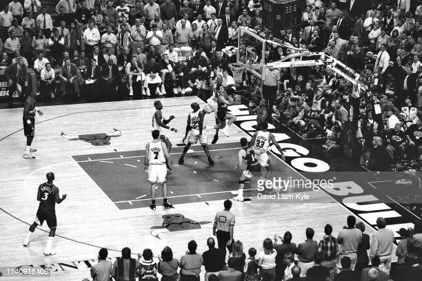 A wideshot of the arena as seen during Game Four of the NBA Finals on June 10 1998 at the United Center in Chicago Illinois NOTE TO USER User...