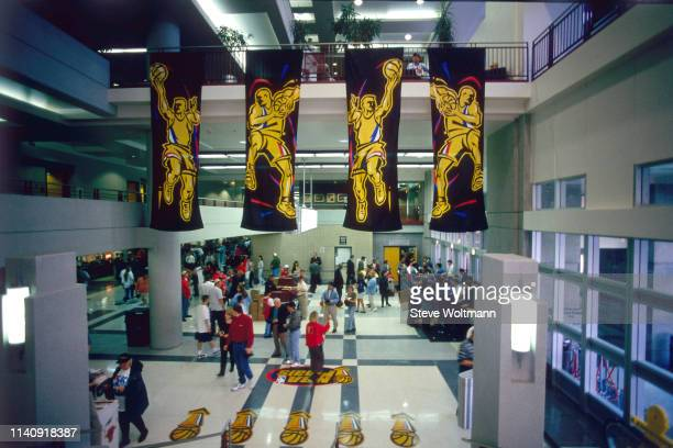 A wideshot of the lobby as seen during Game Four of the NBA Finals on June 10 1998 at the United Center in Chicago Illinois NOTE TO USER User...