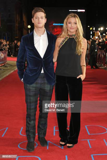 Widge Travers and Lily Travers attend the World Premiere of Murder On The Orient Express at The Royal Albert Hall on November 2 2017 in London England