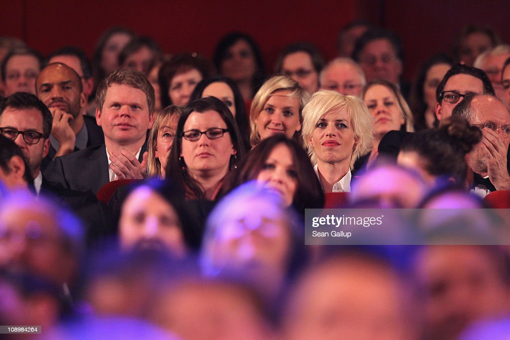 Widow Katja Eichinger attends the grand opening ceremony during the opening day of the 61st Berlin International Film Festival at Berlinale Palace on February 10, 2011 in Berlin, Germany.