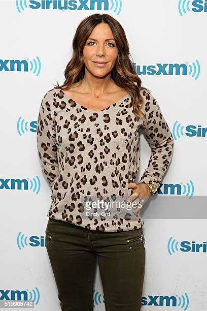 Widow of Andy Whitfield Vashti Whitfield visits the SiriusXM Studio on April 8 2016 in New York City
